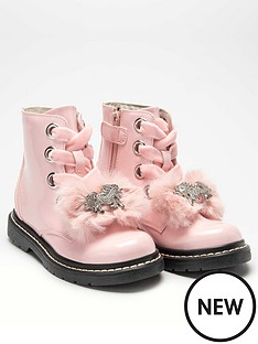lelli-kelly-girlsnbspfiocco-di-neve-unicorn-ankle-boot-pink