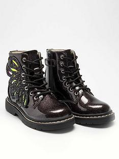 lelli-kelly-girlsnbspglitter-fairy-wings-ankle-boot-black-glitter