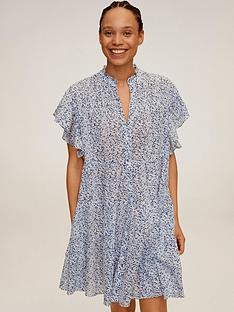 mango-high-neck-floral-shirt-dress-light-grey