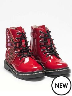 lelli-kelly-girlsnbspfairy-wings-ankle-boot-red