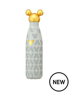 mickey-mouse-gold-head-metal-water-bottle
