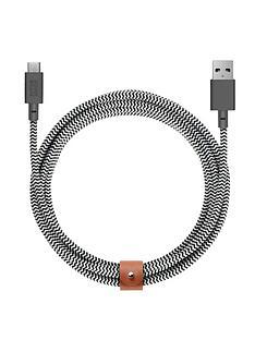 native-union-nu-belt-cable-usb-a-to-usb-c-zebra-3m
