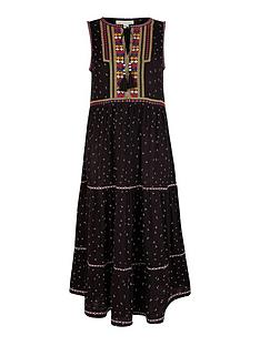 monsoon-malakai-embroidered-jersey-midi-dress-black