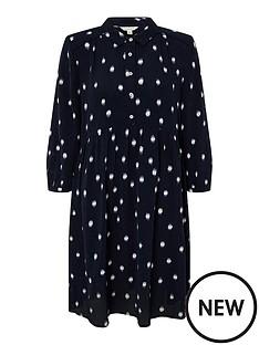 monsoon-dakota-dot-print-sustainable-short-dress-navy