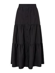 monsoon-patty-poplin-tiered-skirt-black