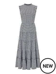 monsoon-gingham-organic-cotton-tiered-midi-dress-black