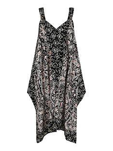 monsoon-foil-print-sustainable-dress-black