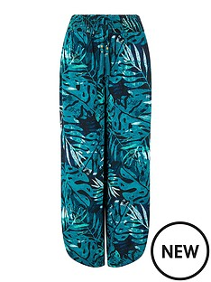 monsoon-palm-print-sustainable-trouser-navy