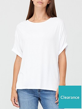 v-by-very-roll-sleeve-tunic-white