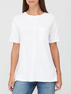 v-by-very-pocket-side-split-longline-t-shirt-white