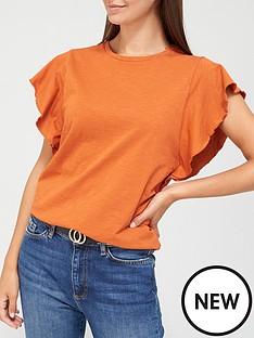 v-by-very-frill-sleeve-t-shirt