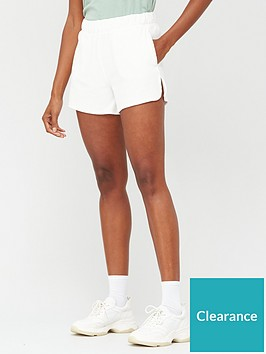 v-by-very-split-side-towelling-jogger-shorts-white