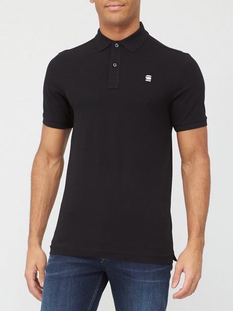 g-star-raw-logo-polo-shirt-black