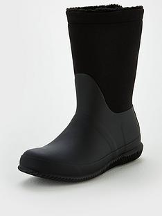 hunter-original-roll-top-sherpa-boot-wear-two-ways-black