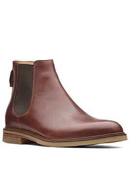 clarks-clarkdale-gobi-suede-chelsea-boots-mahogany