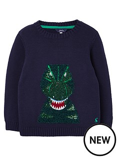 joules-boys-burford-dino-knitted-jumper-navy