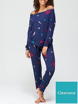 v-by-very-heart-ampnbspstar-slouchy-pyjamas-blueconversational-print