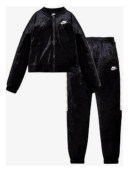nike-girls-nsw-velournbsptracksuit-black