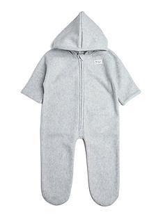 mamas-papas-baby-unisex-felt-pramsuit-grey