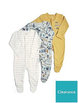 mamas-papas-baby-boys-3-pack-transport-sleepsuits-orange