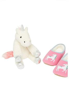 joules-girls-unicorn-slippers-and-toy-set-pink