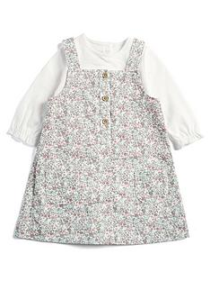 mamas-papas-baby-girls-floral-printed-pinny-top-multi