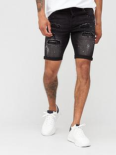 kings-will-dream-rocket-denim-shorts-black