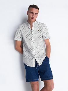 lyle-scott-lyle-scott-short-sleeve-flag-print-shirt