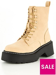missguided-missguided-lace-up-chunky-sole-ankle-boots-taupe