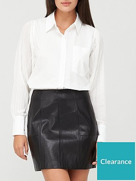 missguided-missguided-pleated-sleeve-shirt-white