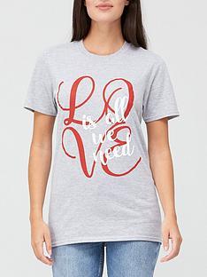 v-by-very-love-graphic-slogan-t-shirt-grey-marl