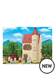 sylvanian-families-sylvanian-red-roof-tower-house-gift-set