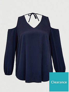 v-by-very-curve-cold-shoulder-tunic-blousenbsp--navy
