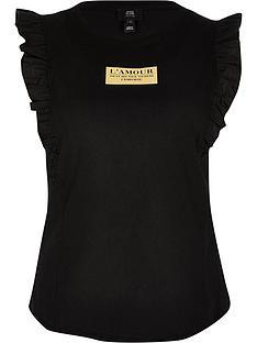ri-petite-lamour-frill-sleeveless-top-black