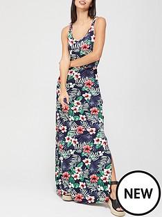v-by-very-channel-waist-maxi-dress-tropical-print