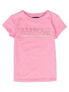 barbour-international-girls-knockhill-metallic-logo-t-shirt-pink