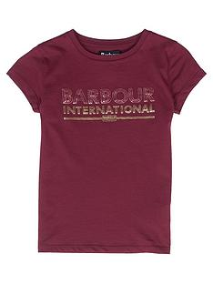 barbour-international-girls-knockhill-metallic-logo-t-shirt-port