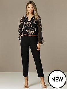 wallis-cotton-belted-cigarette-trousers-black