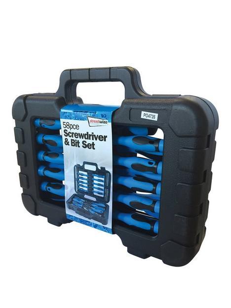 streetwize-accessories-58-pce-screwdriver-and-bit-set-in-case