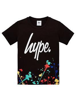 hype-boysnbsppaint-splatter-short-sleeve-t-shirt-black