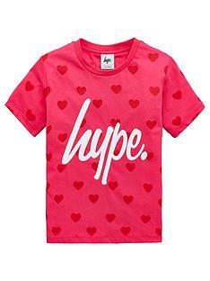 hype-girlsnbspheart-short-sleeve-t-shirt-pink