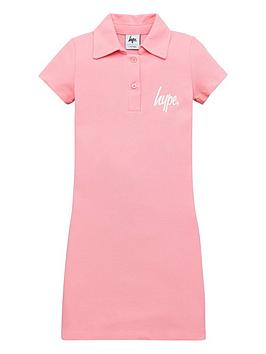 hype-polo-shirt-dress-pink