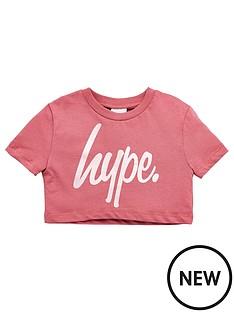 hype-script-cropped-short-sleeve-t-shirt-rose-goldnbsp