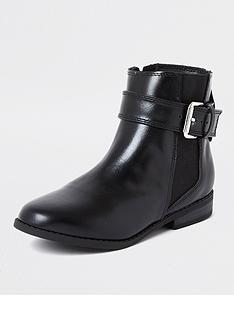 river-island-girls-buckle-flat-boot--nbspblack
