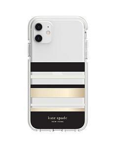 kate-spade-new-york-kate-spade-new-york-defensive-hardshell-case-for-iphone-11-park-stripe-gold-foilblackcreamcream-bumperclear