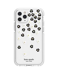 kate-spade-new-york-new-york-defensive-hardshell-case-for-iphone-11-pro-scattered-flowers-blackwhitegold-gemsclearwhite-bumper