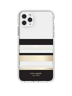 kate-spade-new-york-new-york-defensive-hardshell-case-for-iphone-11-pro-max-park-stripe-gold-foilblackcreamcream-bumperclear