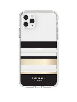 kate-spade-new-york-new-york-defensive-hardshell-case-for-iphone-11-pro-max-park-stripe-gold-foilblackcreamcream-bumperclear