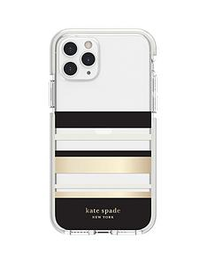 kate-spade-new-york-new-york-defensive-hardshell-case-for-iphone-11-pro-park-stripe-gold-foilblackcreamcream-bumperclear