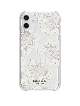 kate-spade-new-york-new-york-protective-hardshell-case-for-iphone-11-hollyhock-floral-clearcream-with-stones
